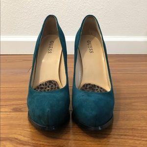 Guess teal heels